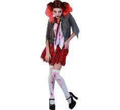 Strój karnawałowy dla dorosłych Uczennica we krwi. Doskonały kostium na Halloween.