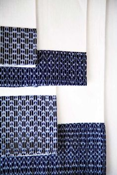 Hand towels with hand woven ikat traditional rebozo application. 100% cotton