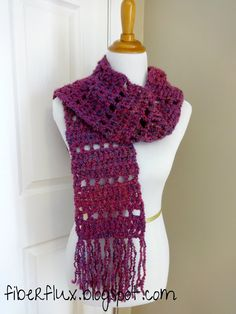 Fiber Flux...Adventures in Stitching: Free Crochet Pattern...Mulberry Scarf!