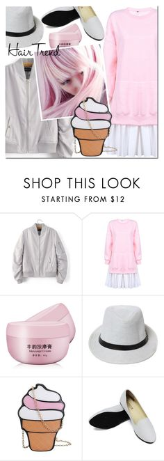"""""""Untitled #2482"""" by mada-malureanu ❤ liked on Polyvore featuring hairtrend, rainbowhair and plus size dresses"""