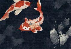 Kawa by Coordonne - Dark - Mural : Wallpaper Direct