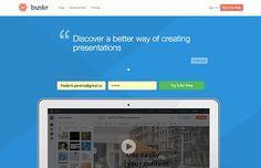 Bunkr est un service en ligne permettant à une ou plusieurs personnes de travailler sur des présentations interactives. Exactement comme PowerPoint.