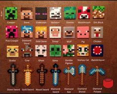Image result for minecraft fusion bead patterns