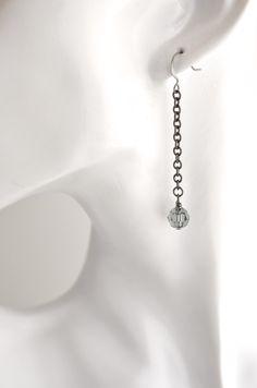 Swarovski gunmetal dangle earrings grey by izabellahansendesign