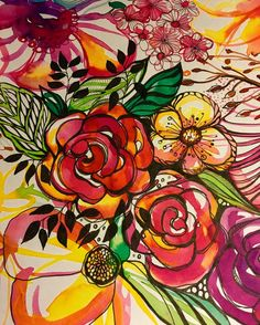 Well the ecoline watercolour drawing from yesterday turned out this way with my doodling on with unipin fineliners  #colorful #watercolorflowers #watercolor #watercolors #ecoline #ecolineinks #doodling #doodleart #doodleartist #flowers #illustration #illustrations #mixedmedia #therese #artwork #artist #red #orange #pink #leafs #flower #yellow #art #drawing #lovewhatyoudo #unipinfineline #lines #zendrawing