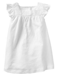 Eyelet flutter dress, Gap. To wear at the Baptism party after the vintage gown is put away.