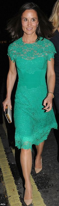 May 8, 2014 - Pippa Middleton wore a Tabitha Webb dress to the London's Waitrose Summer Party