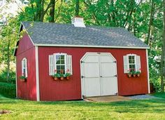 The perfect little school house for the back yard! Add some carpet, lights, and window air conditioner and we would be set!