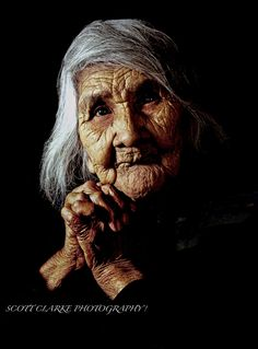 American Indian--there's something about the greatly aged that appeals to me.  I want to know their stories of struggles and overcoming and perseverence.  We don't value our aged as we should.