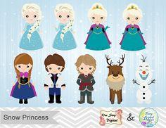 Instant Télécharger ClipArt princesse des neiges par OneStopDigital