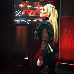 She's back! @natbynature returns to action on #RAW!
