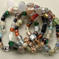 Indian Lampwork Mix Glass Beads by XOSupplies $6.84