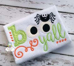 Boo Yall with Spider Halloween Shirt or by GingerLyBoutique