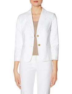 Topstitched 2-Button Jacket from THELIMITED.com #TheLimited