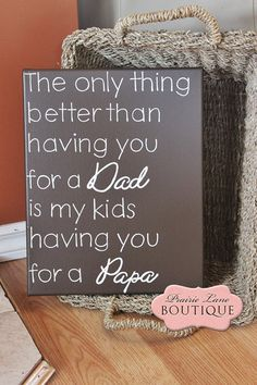 Fathers Day Gift for Dad Gift for Papa Dad by prairieboutique, $28.00
