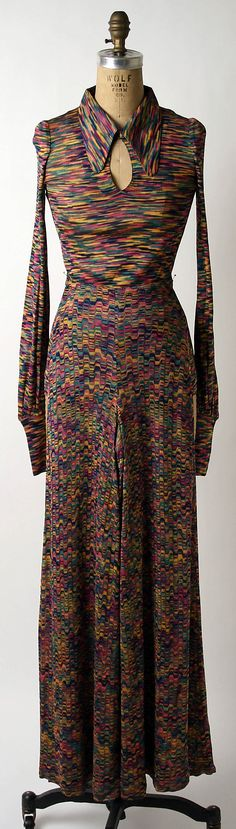 Ensemble Missoni; (Italian, founded 1953) Date: ca. 1970 Culture: Italian Medium: rayon