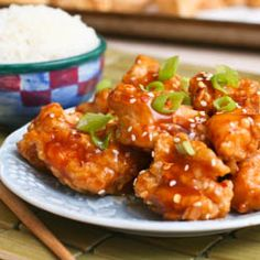 General Tso's chicken - crispy chicken chunks in a spicy, sweet sauce.  Make the takeout favorite at home!