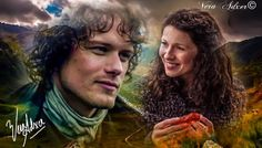 Fan art by ©Vera Adxer of Jamie and Claire                                                                                                                                                                                 More