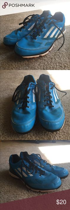 Adidas Zero waterproof spike-less golf shoes Adidas Zero spike-less golf shoes - size 10. Comes with extra pair of shoe laces (blue). Some wear from golf but great condition! These shoes are also waterproof! adidas Shoes Athletic Shoes