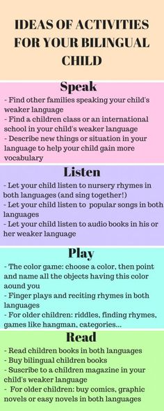 How to raise bilingual children - Moms love learning