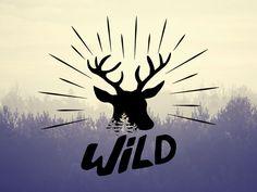 Wild Vintage badge by sophie rousseau #black #illustration #illustrator #wild #design #print #badge #vintage #tree #vector