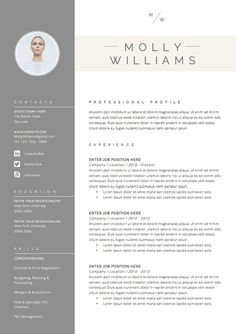 Hervatten sjabloon 3page CV-Template Cover door TheResumeBoutique