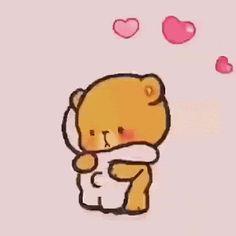 Cute Love Images, Cute Love Stories, Cute Love Gif, I Love You Gifs, Beautiful Pictures, Cute Love Cartoons, Cute Cartoon, Merci Gif, Calin Gif