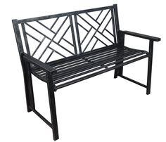 Caldera Cumberland Folding Metal Patio Garden Bench