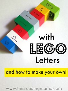 Spelling with Lego Letters--Build literacy skills with Legos.