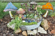 DIY outdoor fairy house....use what you have type thing...LOVE!! Great project for the summer!