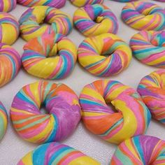 So, here's a thing that exists. | Rainbow Bagels Exist So You Can Eat Your Unicorn-Loving Heart Out