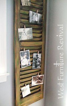 Reaproveitar janelinha velha, colocar fotos ou recados