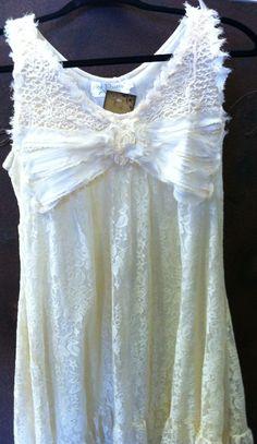 Light lacey v neck dress...$42.00