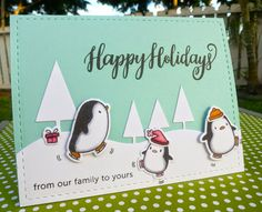 Arctic Penguins and Season's Greetings | Wahine Inks...