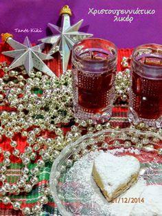 Tante Kiki: Χριστουγεννιάτικο λικέρ ούζου και ψητά φρούτα... 2... Alcohol, Xmas, Sweets, Homemade, Table Decorations, Drinks, Liqueurs, Food, Rubbing Alcohol