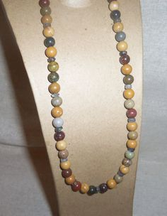 Natural Multicolored BAMBOO JASPER and by PastsPresents on Etsy, $17.99