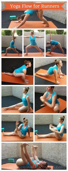 Yoga Flow for Runners   enjoyingthecourse.com