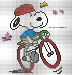 schema snoopy in bici
