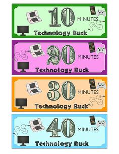 """Technology """"Bucks""""  Take control of how much technology your kids use."""