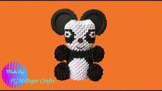 DIY - Origami How to make a Panda bear origami Bear Origami, Diy Origami, Panda Bear, Mickey Mouse, Disney Characters, Fictional Characters, 3d, How To Make, Panda