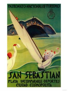 San Sebastian Vintage Poster - Europe Print at Art.com