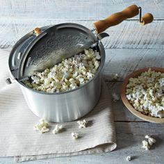 Original Whirley Pop Popcorn Popper with Purple and Red Non-GMO Popcorn//
