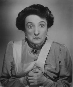 Una OConnor AKA Agnes Teresa McGlade  Born: 23-Oct-1880 Birthplace: Belfast, Ireland Died: 4-Feb-1959 Location of death: New York City Cause of death: Heart Failure Remains: Buried, Calvary Cemetery, Queens, NY  Gender: Female Religion: Roman Catholic Race or Ethnicity: White Occupation: Actor  Nationality: Ireland Executive summary: Googly-eyed character actress