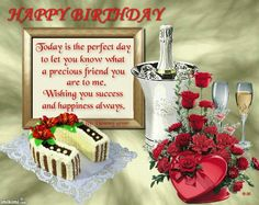 . Happy Birthday Today, Belated Birthday, Happy Birthday Greetings, Friend Birthday, Birthday Wishes, Birthday Frames, Birthday Board, Birthday Cake, Wine Bottle Images