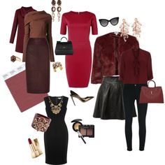Looks inspired by Pantone's color of 2015, Marsala.