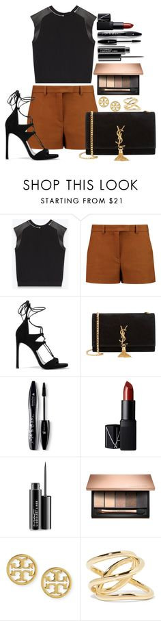 """Untitled #1424"" by fabianarveloc on Polyvore featuring Yves Saint Laurent, Emilio Pucci, Stuart Weitzman, Lancôme, NARS Cosmetics, MAC Cosmetics, Tory Burch and Jennifer Fisher"