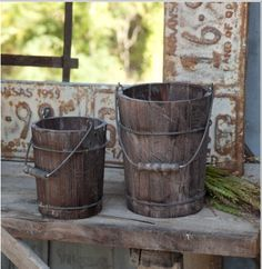 Check these little guys out! They come in two sizes (small and medium) and are decorative buckets that can be filled with cool pine cones, or other items. Just