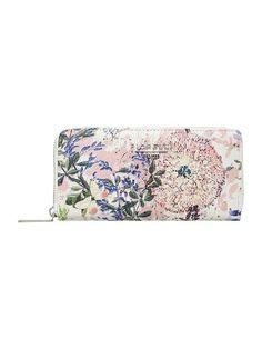 Perrie multi coloured medium zip around purse
