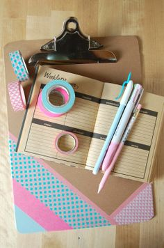 About the nice things: Clipboard with washi tape