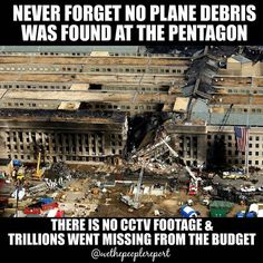 No plane no footage no money where did it all go? The same criminals that killed JFK and carried out this #falseflag are still in charge. #nineeleven #truth #911truth #911 #pentagon